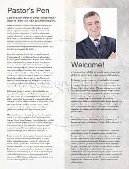 Man to Man Church Sermon Newsletter
