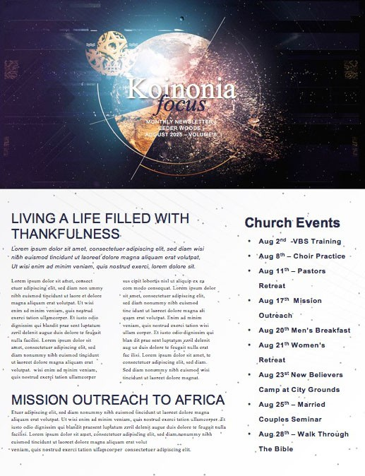 Make an Impact Church Sermon Newsletter
