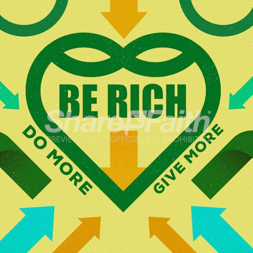 Be Rich Church Sermon Social Media Graphic