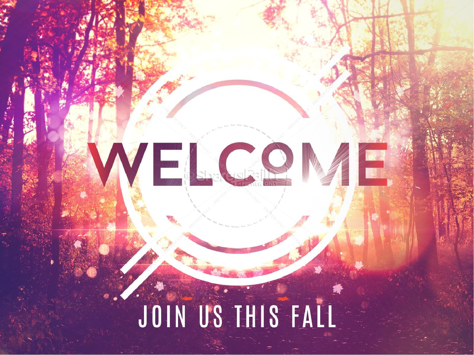 Fall Welcome Graphic Design
