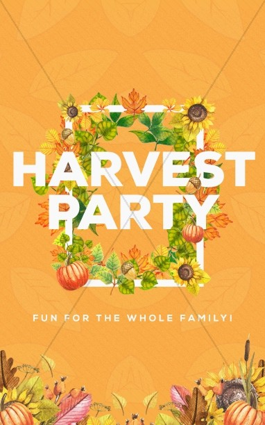 Harvest Party Church Bulletin
