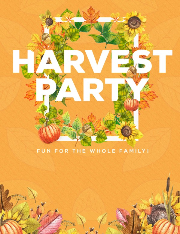 Harvest Party Church Flyer