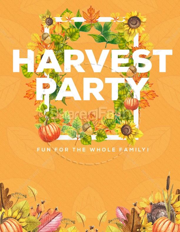 Harvest Party Church Flyer