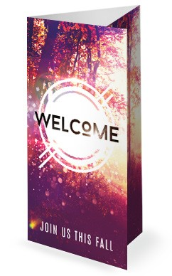 Fall Welcome Church Trifold Bulletin Cover