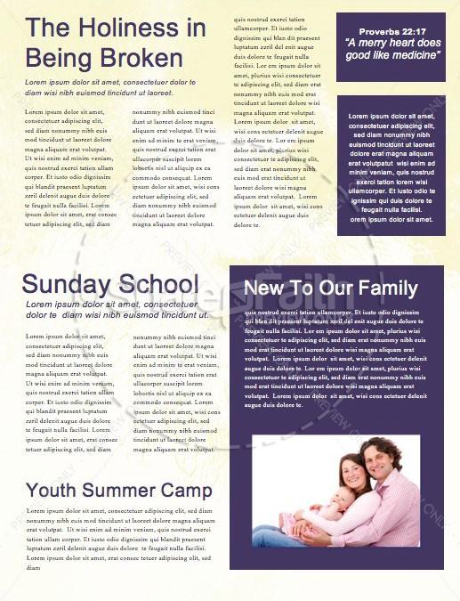 Taboo Church Newsletter Template