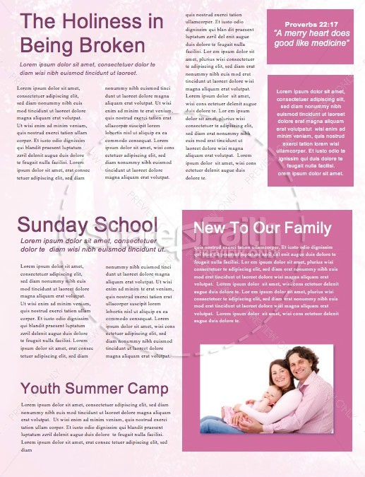 Fall Welcome Church Newsletter Template