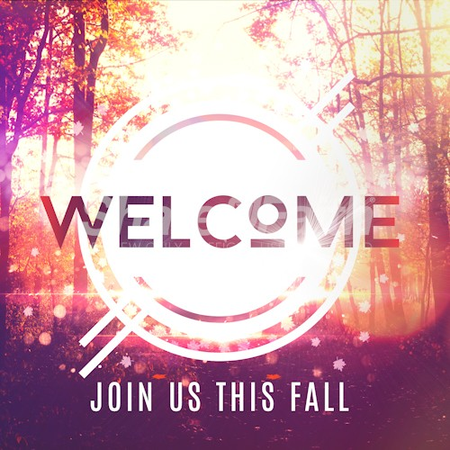 Fall Welcome Church Social Media Graphic
