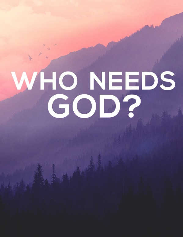Who Needs God Church Sermon Flyer