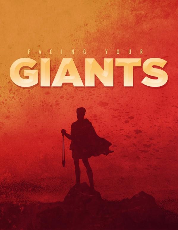 Facing Your Giants Church Sermon Flyer