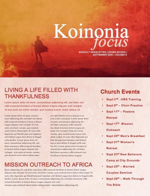 Facing Your Giants Church Sermon Newsletter