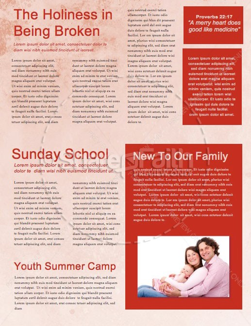 Facing Your Giants Church Sermon Newsletter