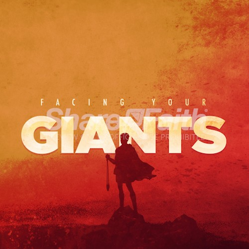 Facing Your Giants Church Sermon Social Media Graphic