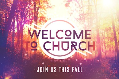 Fall Graphic Welcome Motion Background