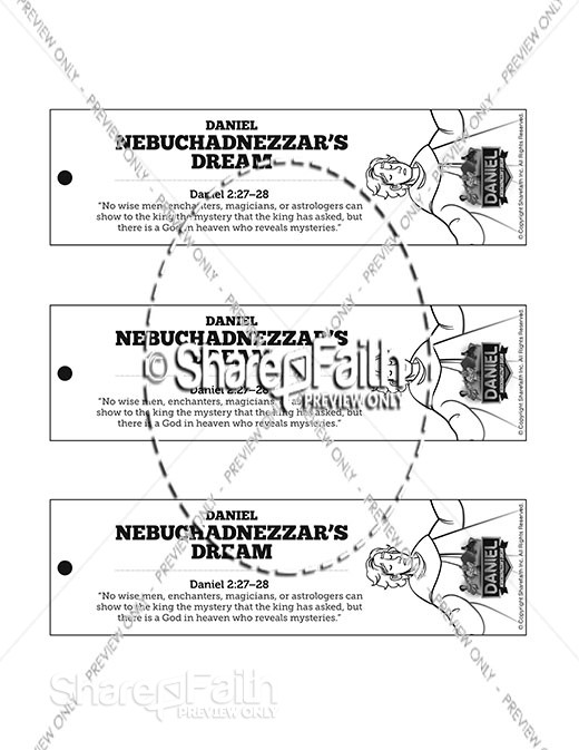Daniel 2 Nebuchadnezzar's Dream Bible Bookmarks