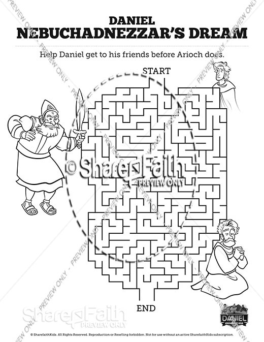Daniel 2 Nebuchadnezzar's Dream Bible Mazes
