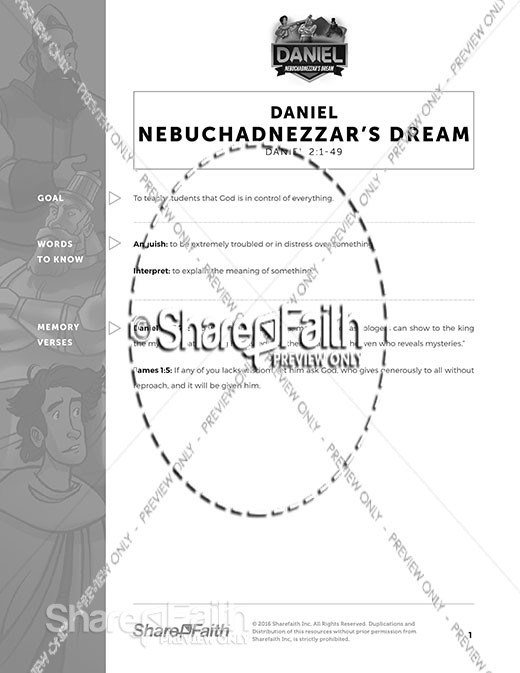 Daniel 2 Nebuchadnezzar's Dream Curriculum