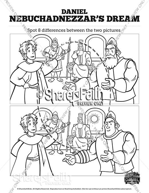 Daniel 2 Nebuchadnezzar's Dream Spot the Differences