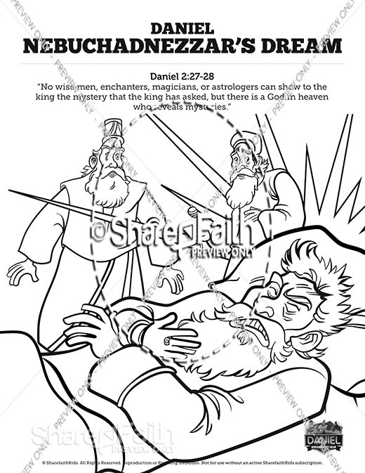 Daniel 2 Nebuchadnezzar's Dream Sunday School Coloring Pages
