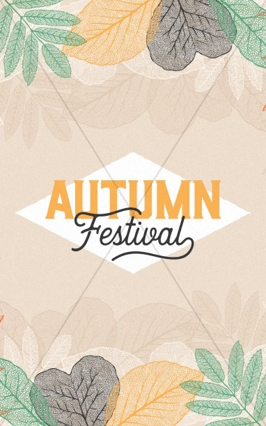 Autumn Festival Church Sermon Bulletin