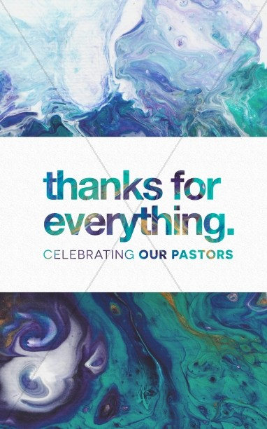 Pastor Appreciation Church Media Bulletin
