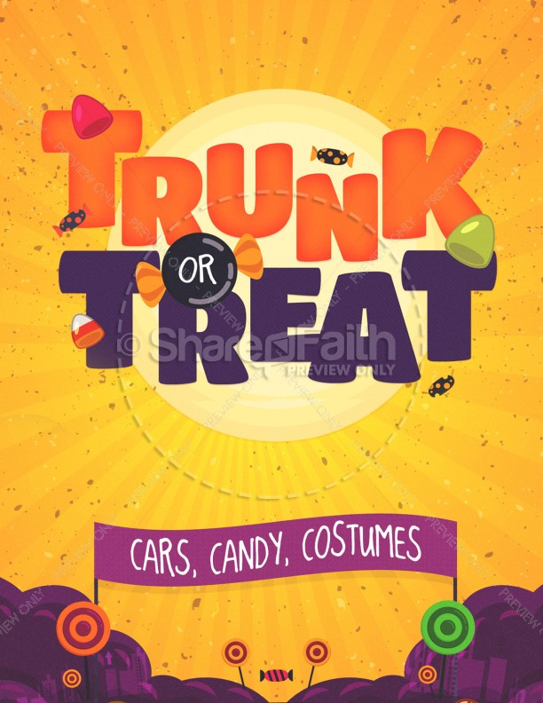 Trunk or Treat Church Flyer