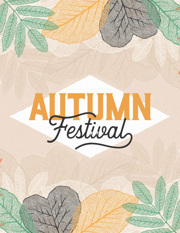 Autumn Festival Church Sermon Flyer