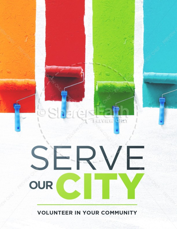 Serve Our City Church Flyer
