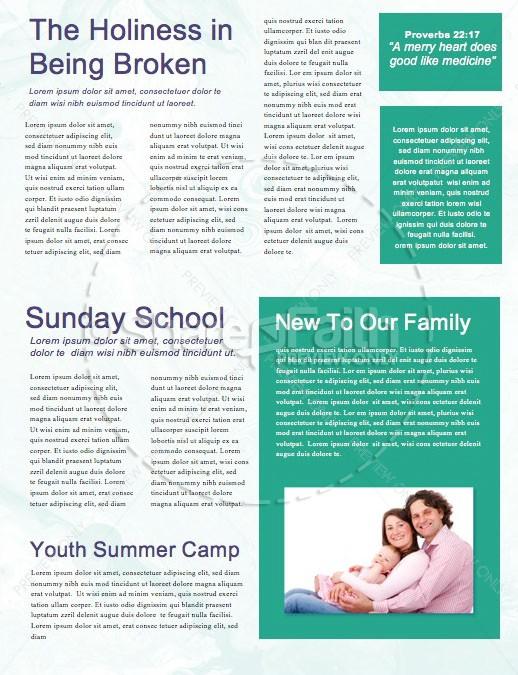 Pastor Appreciation Church Newsletter
