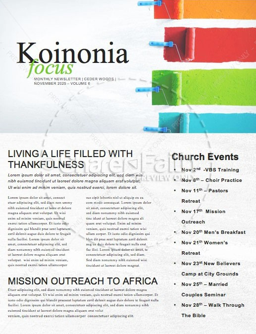 Serve Our City Church Newsletter | page 1