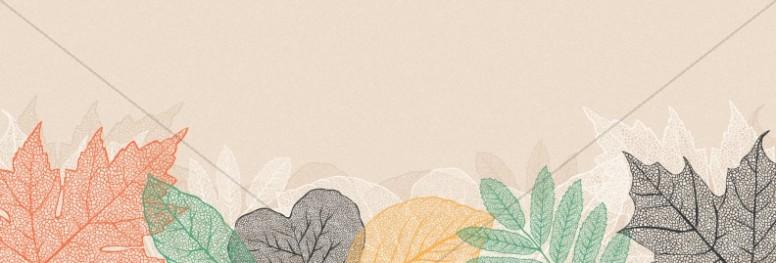Autumn Festival Church Sermon Website Banner