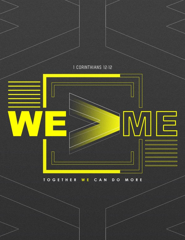 We > Me Church Sermon Flyer