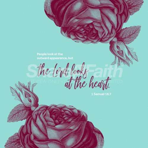 The Lord Looks At The Heart Roses Social Media Graphic