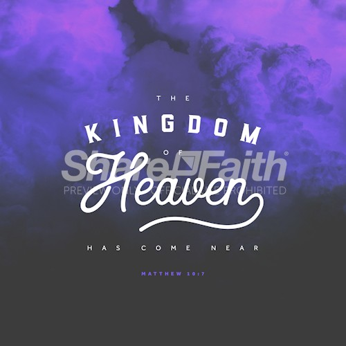 Kingdom Of Heaven Dark Clouds Social Media Graphic