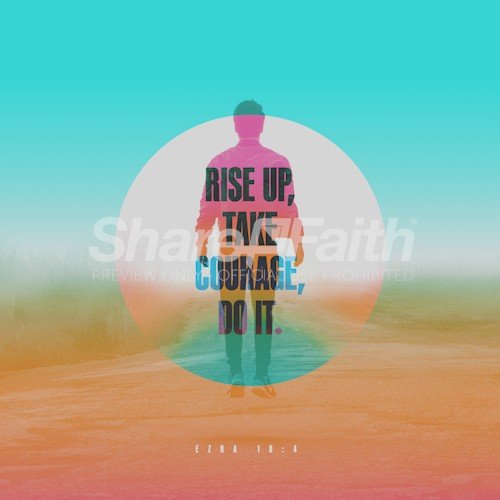 Rise Up Courage Man Sand Dunes Social Media Graphic