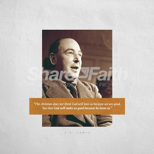 C.S. Lewis Inspirational Quote God's Love Social Media Graphic