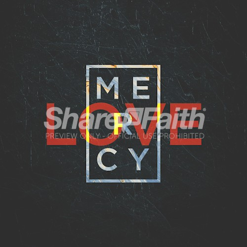 Love Mercy Bible Verse Symmetrical Social Media Graphic