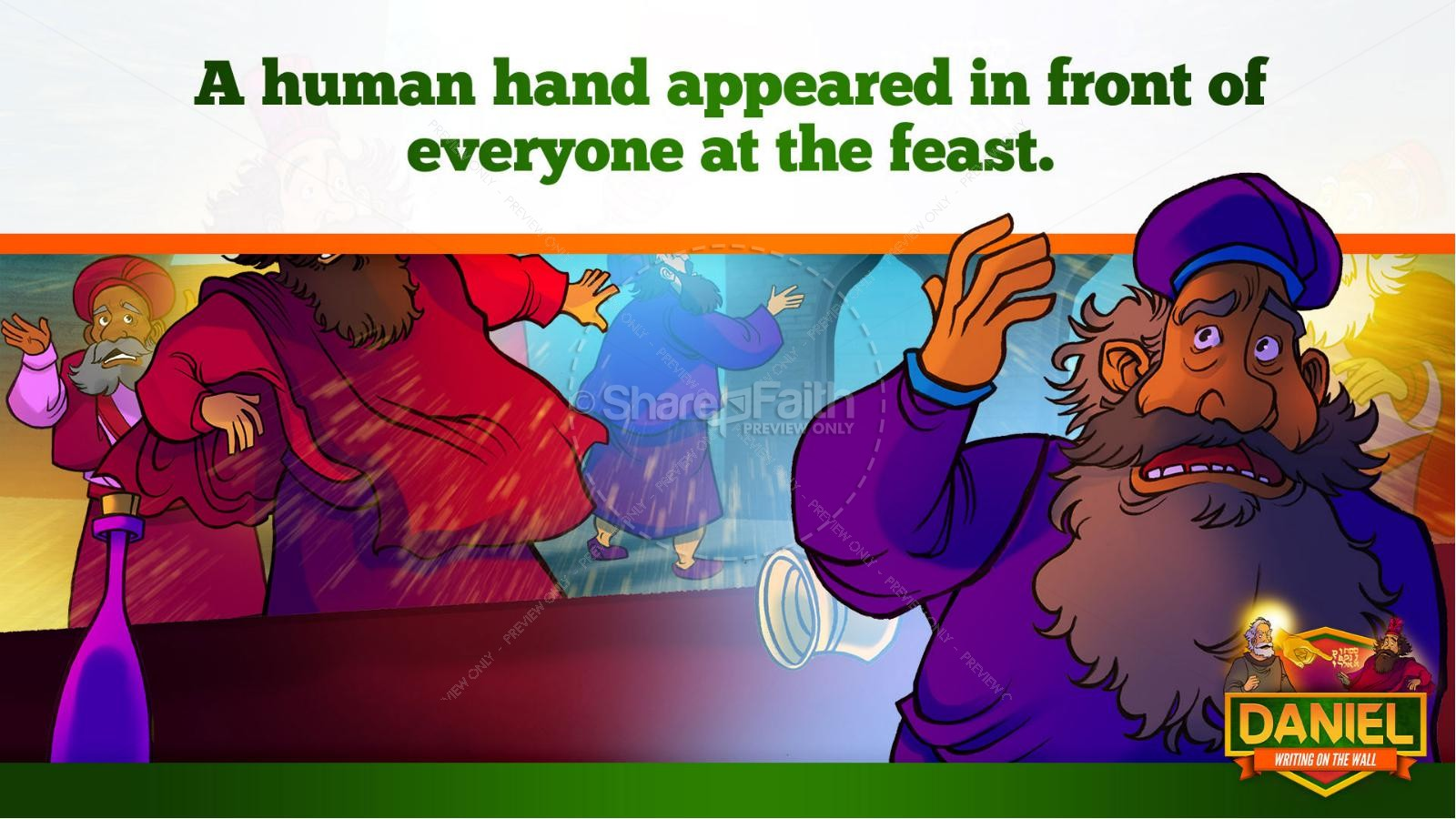 Daniel 5 Writing On The Wall Kids Bible Story   slide 16