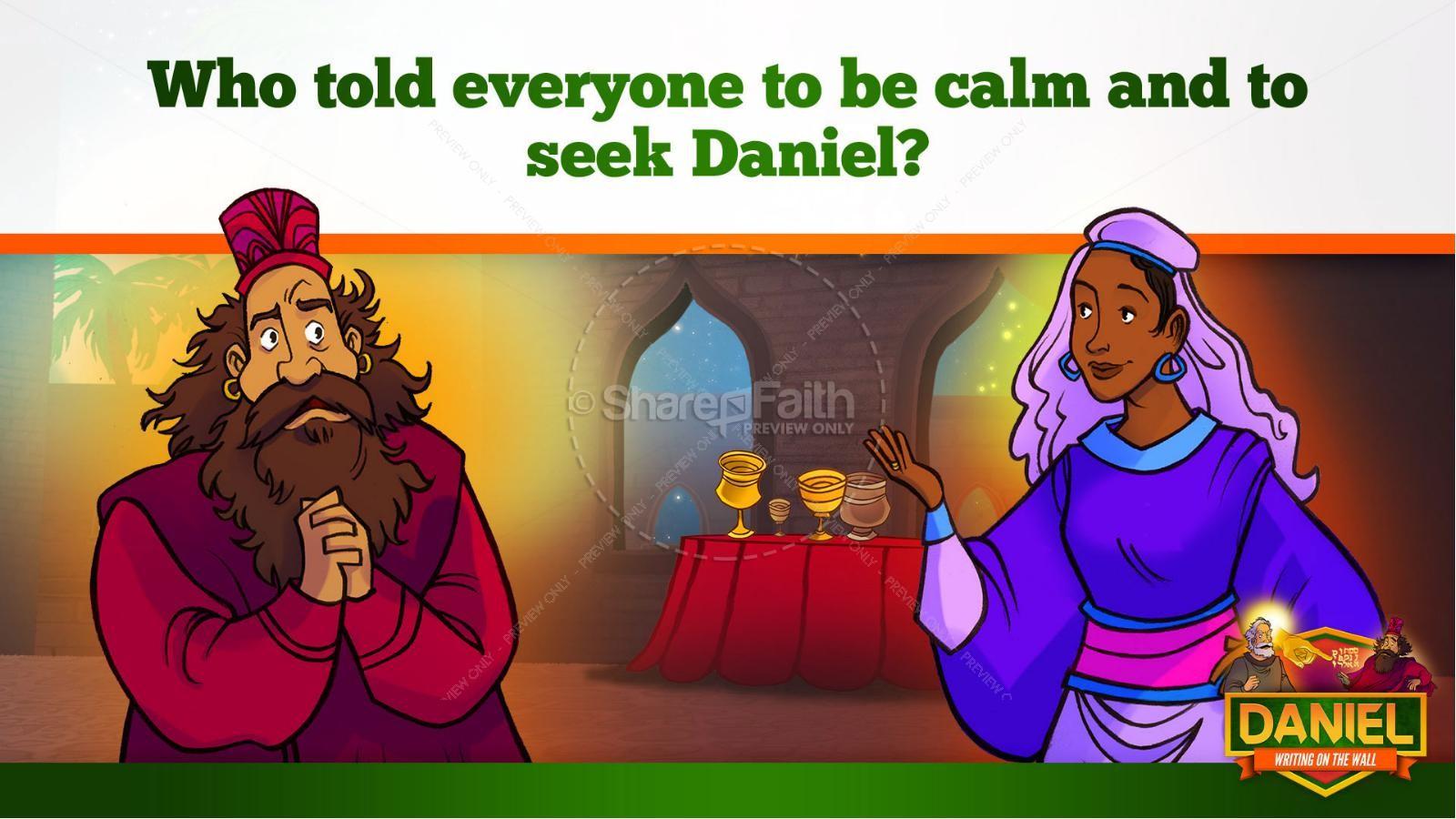 Daniel 5 Writing On The Wall Kids Bible Story | slide 19