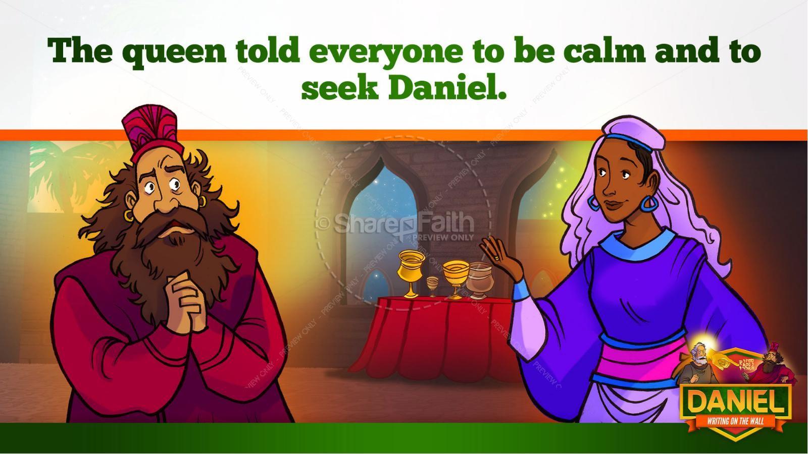 Daniel 5 Writing On The Wall Kids Bible Story   slide 20
