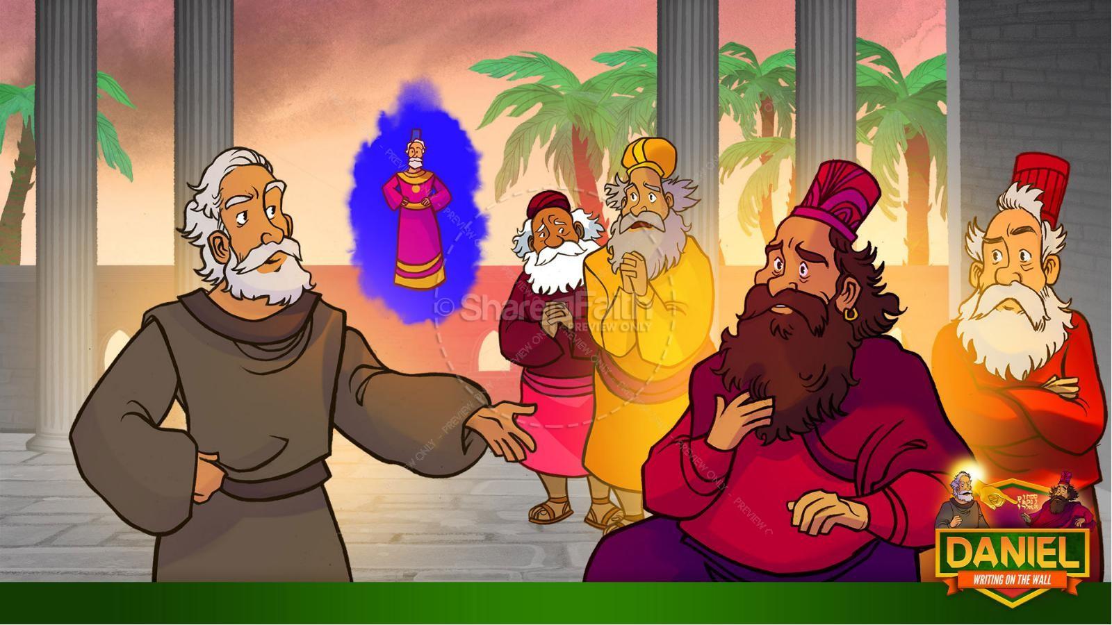 Daniel 5 Writing On The Wall Kids Bible Story | slide 22