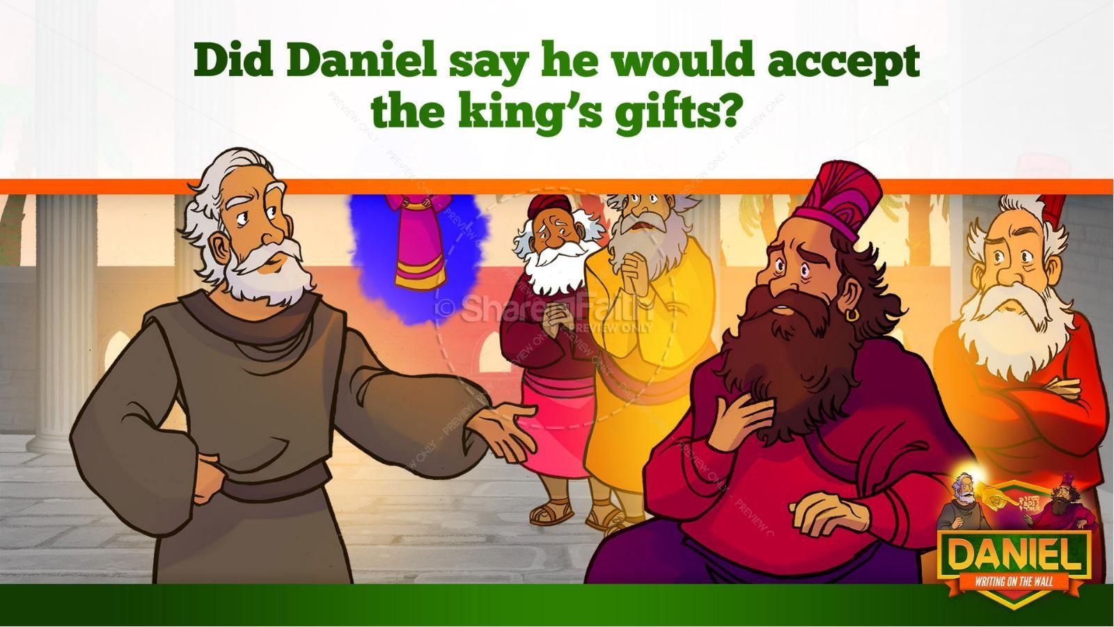 Daniel 5 Writing On The Wall Kids Bible Story | slide 23