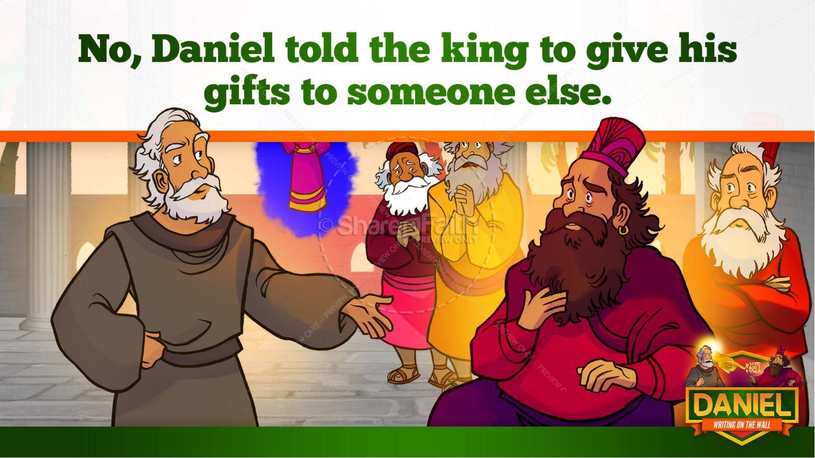 Daniel 5 Writing On The Wall Kids Bible Story | slide 24