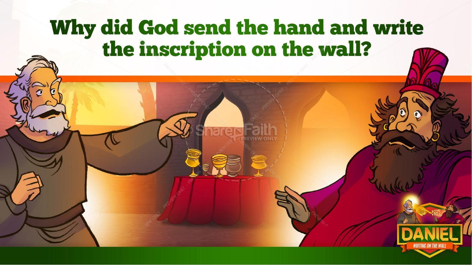 Daniel 5 Writing On The Wall Kids Bible Story | slide 31
