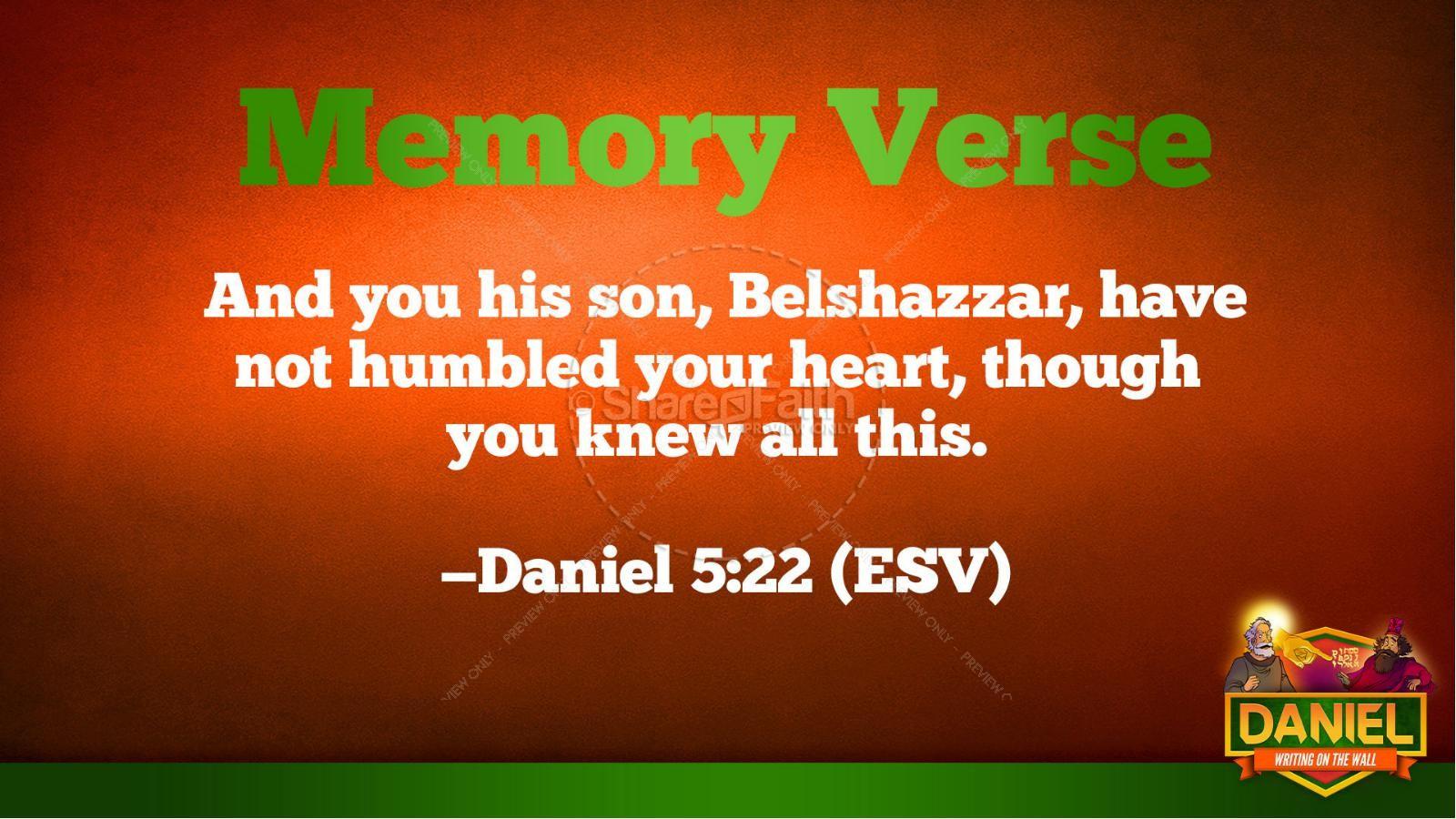 Daniel 5 Writing On The Wall Kids Bible Story | slide 40