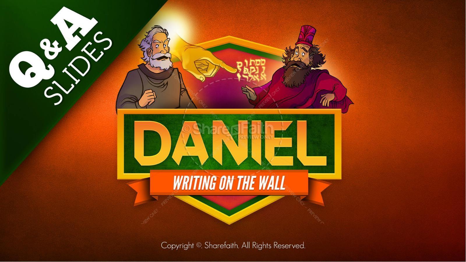 Daniel 5 Writing On The Wall Kids Bible Story   slide 9