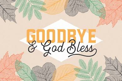 Goodbye And God Bless Autumn Leaves Motion Graphic