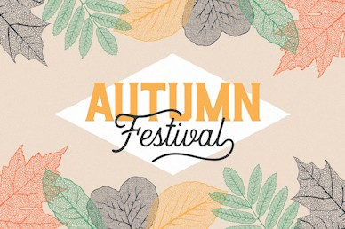 Autumn Festival Fall Leaves Motion Graphic