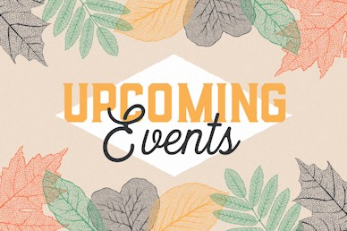 Upcoming Events Autumn Leaves Motion Graphic