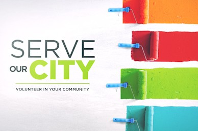Serve Our City Volunteer Sermon Motion Graphic