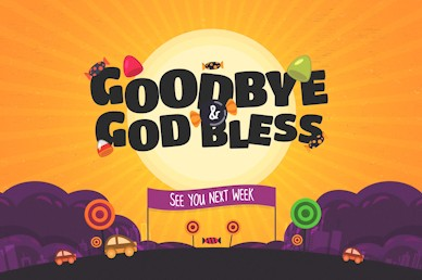 Goodbye & God Bless Trunk Or Treat Autumn Motion Graphic